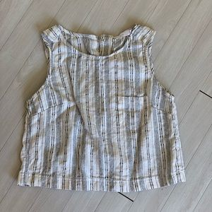 Size M striped linen tank top